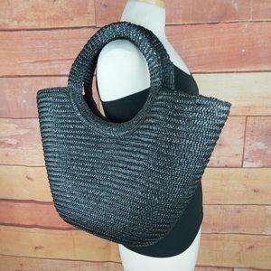 Ysatis de Givenchy straw Beach tote cruise bag